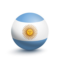 Flag of argentina in the form of a ball vector