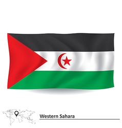 Flag of Western Sahara vector image