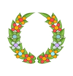 Funeral wreath icon cartoon style vector