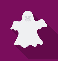 ghost icon in flate style isolated on white vector image