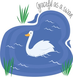 Graceful As Swan vector