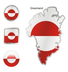 greenland vector image
