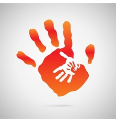 Hand color vector