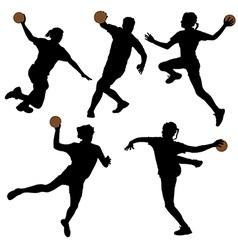 Handball Silhouette vector image