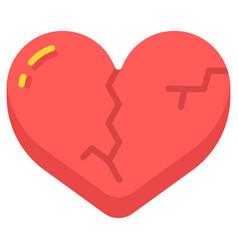 Heartbroken flat vector