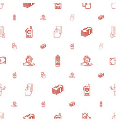 Hold icons pattern seamless white background vector