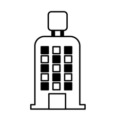 Hotel building isolated icon vector