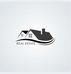 house roofs for real estate business vector image