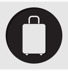 information icon - suitcase vector image