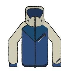 Jacket of winter cloth design vector