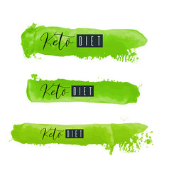 keto diet lettering on hand paint green vector image