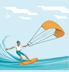 Kitesurfing - vector