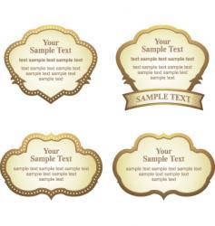 label sets vector image