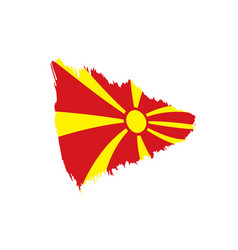 macedonia flag vector image