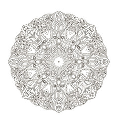 Mandala oriental pattern turkey egypt islam vector
