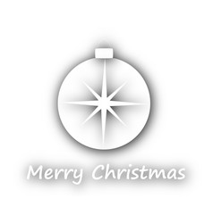 Merry christmas with ball on white vector