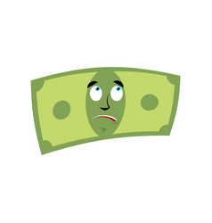 Money surprised emotion cash emoji astonished vector