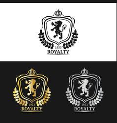Monogram logo template luxury crown design vector