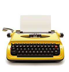 Old Typewriter vector image