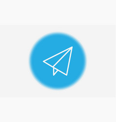 paper plane icon sign symbol vector image