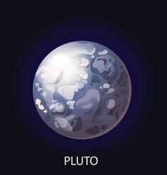 Planet pluto cartoon vector