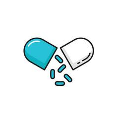 Protection probiotics split capsule intestines vector