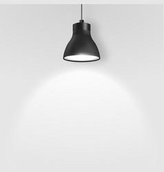 realistic 3d black spotlight hang ceiling vector image