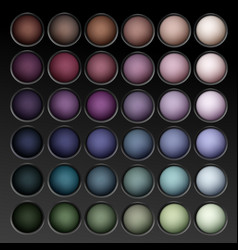 round multicolored eye shadows palette vector image vector image