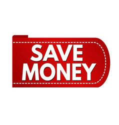save money banner design vector image