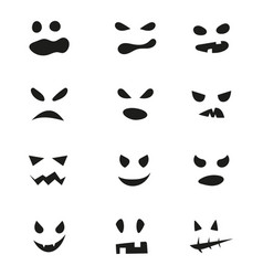 set halloween scary masks vector image