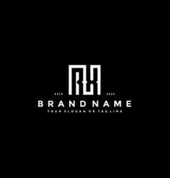 Set letter rx logo design vector