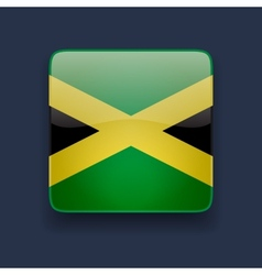 Square icon with flag of Jamaica vector image