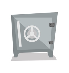 Steel bank safe vector image