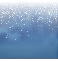 stock falling snow overlay vector image