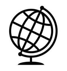symbolic image of geographical globe web icon vector image