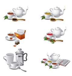 tea icons2 vector image