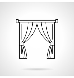 Theater curtain flat line icon vector image