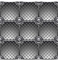 Tiled metal background vector image