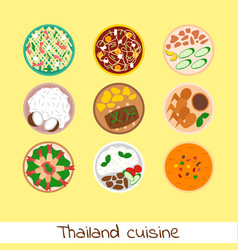 traditional thai food asian plate cuisine thailand vector image