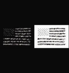 usa flag with camouflage set camo american flag vector image