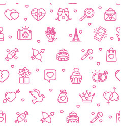 valentine love sign seamless pattern background on vector image