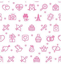 valentine love sign seamless pattern background vector image
