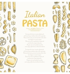 Vertical seamless pattern with Italian pasta vector