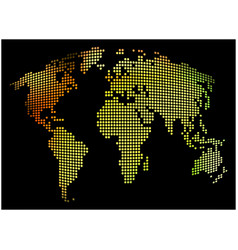 world map - abstract dotted background colorful vector image