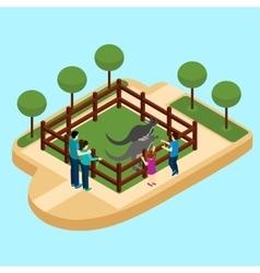 Zoo Isometric vector image