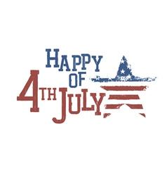 4th july typography composition vector