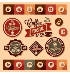 coffee design stickers vector image
