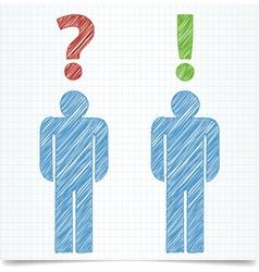 Man question vector image