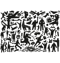 characters - doodles vector image
