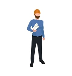 Civil engineer architect or construction worker vector image